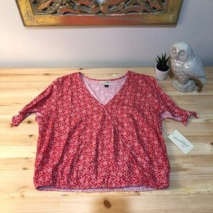 NWT Universal thread cold shoulder wrap top